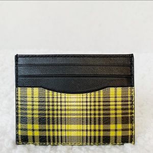 NWT Coach ID Card Case with Yellow Plaid